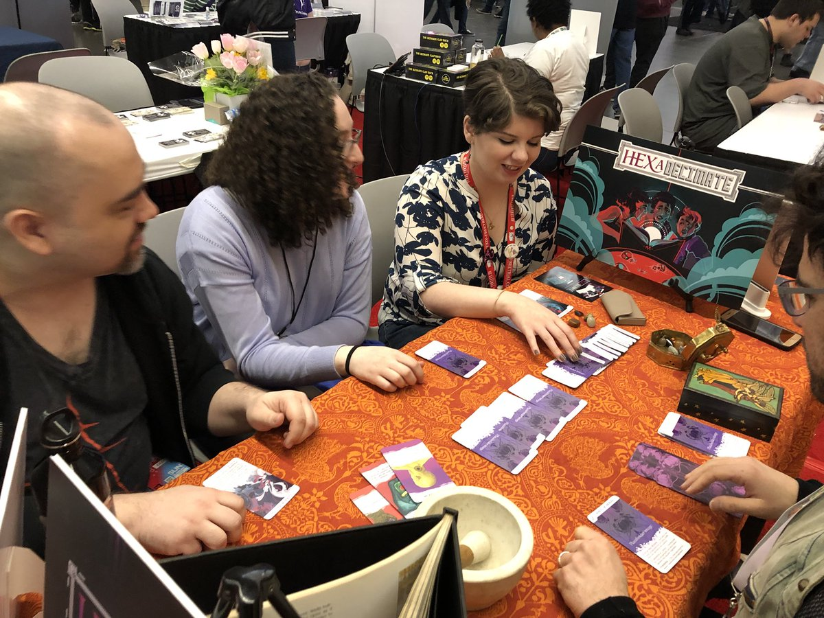 People playing HEXaDecimate Game at PAX East 2018